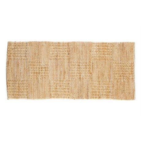BePureHome Tapis Scènes toile de jute brun naturel 70x140cm