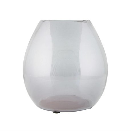 BePureHome Vase en verre transparent simple gris moyen 20x20x20cm