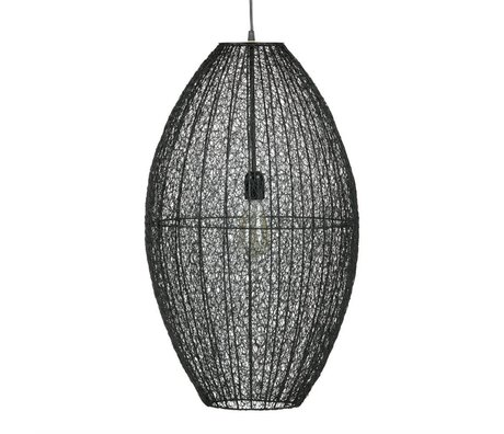 BePureHome Hanging lamp Creative XL black metal 70x40x40 cm