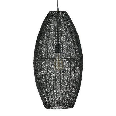 BePureHome Hanging lamp Creative L black metal 60x30x30cm