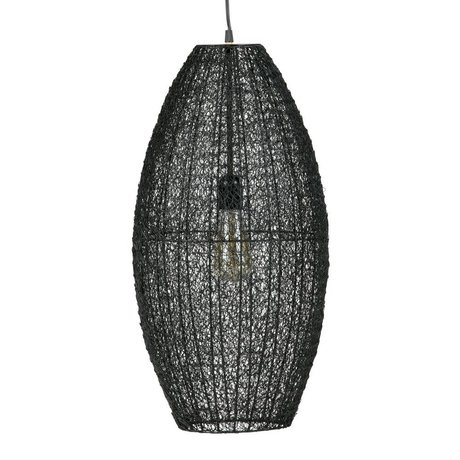 BePureHome lampe pendentif créatif métal noir L 60x30x30cm