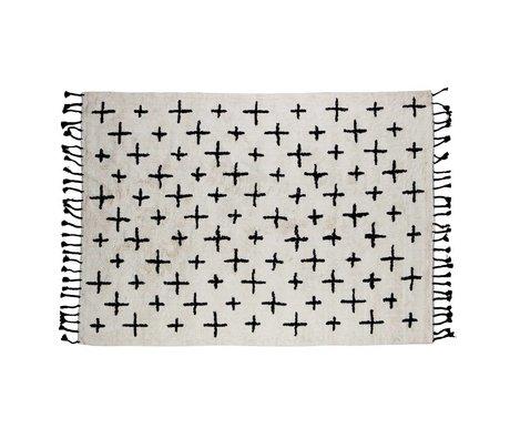 BePureHome Mehr Teppich aus weißer Baumwolle 170x240cm