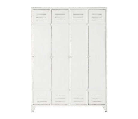 BePureHome Cabinet cabinet locker Discover white metal 153,5x110,5x43cm