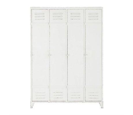 BePureHome enceinte de cabinet casier Découvrez 153,5x110,5x43cm en métal blanc