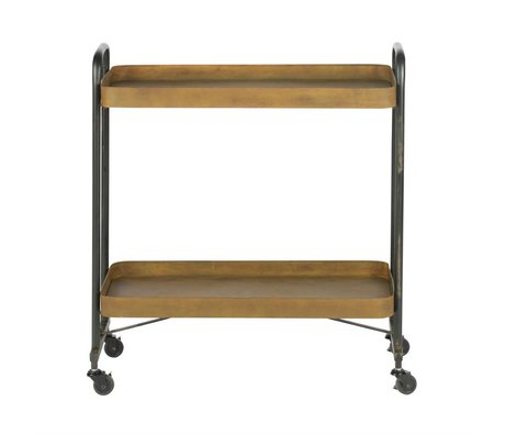 BePureHome Trolley Rostige Orange Metall Rost 83x91,5x35,5cm