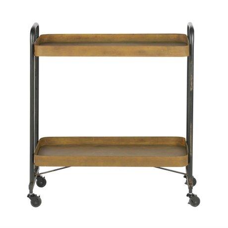 BePureHome Trolley Rusty Rust Orange Metal 83x91,5x35,5cm
