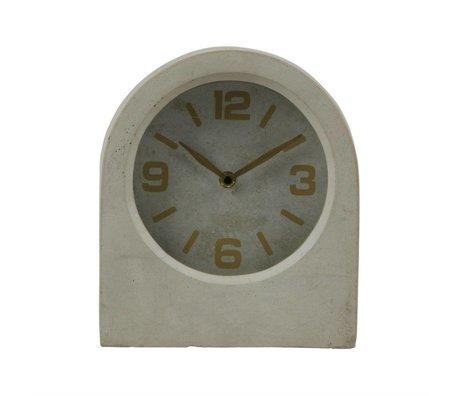 BePureHome Clock Timeless grauer Beton 24x20,8x10cm