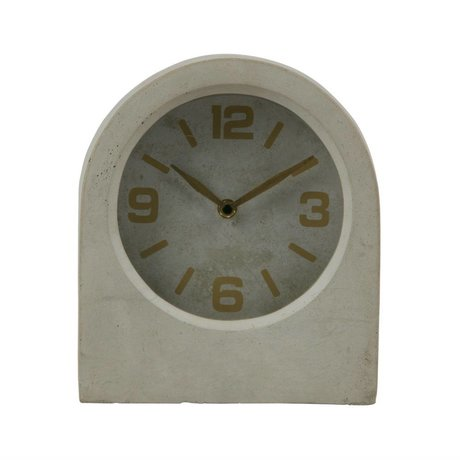 BePureHome Clock Timeless gray concrete 24x20,8x10cm