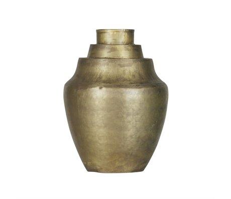BePureHome Vase Cheer laiton métal or antique 31x23x23cm
