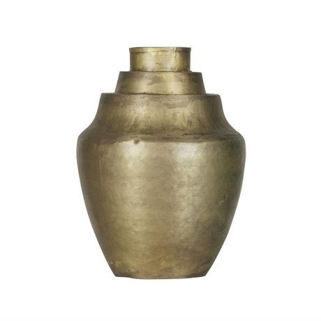 BePureHome Vase Cheer antique brass gold metal 31x23x23cm