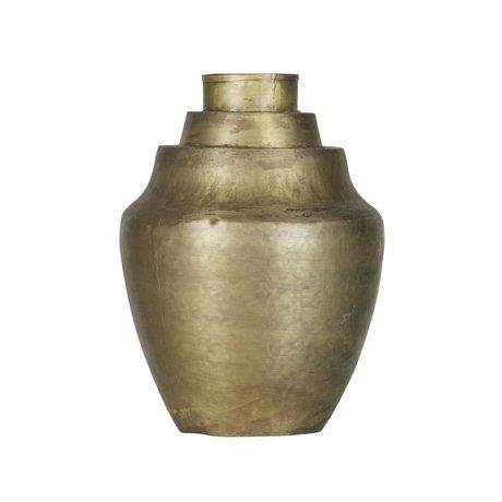 BePureHome Vase Cheer Messing Antik Gold Metall 31x23x23cm