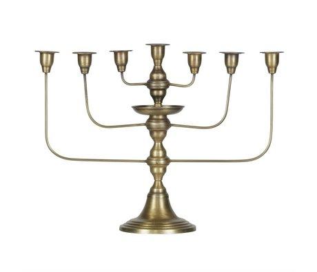 BePureHome Candlestick Totem laiton métal or antique 46x58x18cm