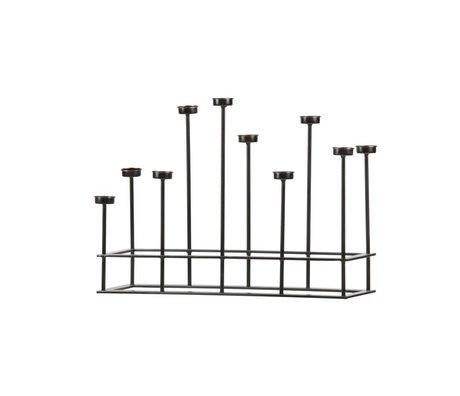 BePureHome Kaarsenstandaard Surround zwart metaal 40x58,5x17,5cm