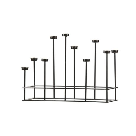 BePureHome Candle Stand Surround Black Metal 40x58,5x17,5cm