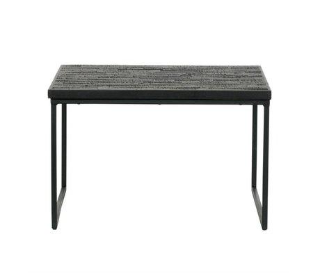 BePureHome Beistelltisch Freigabe schwarzem Holz 38x60x60cm