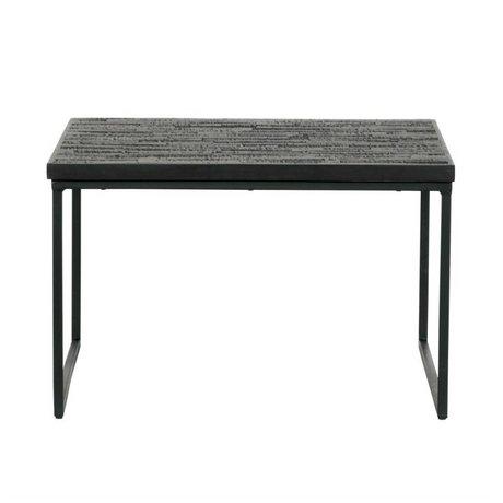 BePureHome Table d'appoint Partage bois noir 38x60x60cm