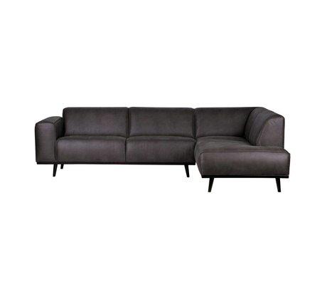 BePureHome Kontoauszug Sofa rechts grau eco Leder 77x274x210cm