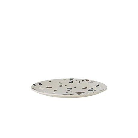 Ferm Living Plate Terrazzo gray bamboo Ø20x2cm