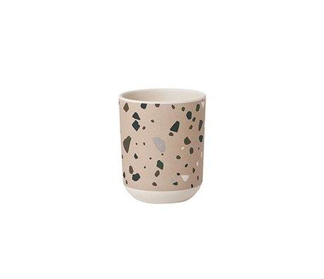 Ferm Living Cup Terrazzo rosa Bambus Ø7,5x9cm