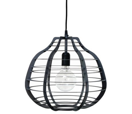 HK-living LAB black metal pendant lamp XL 36x36x32cm