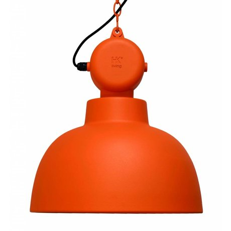 HK-living Pendelleuchte Factory-MAT Orange Metall Ø40x45cm Medium