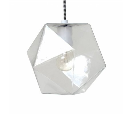 HK-living Geo glass hanging lamp 24x24x24cm