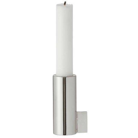 Ferm Living Candlestick Hälfte Stahl Silber 3,5x8cm