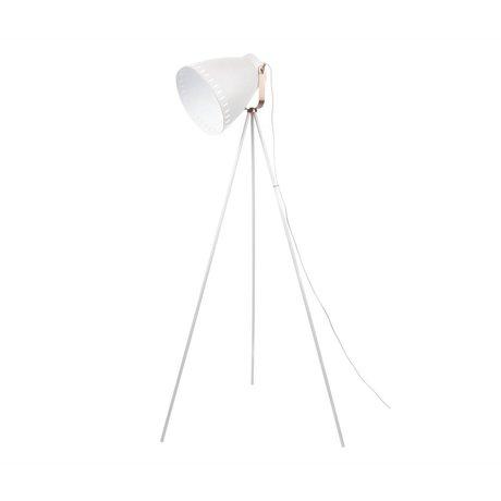 Leitmotiv Stehlampe weißes Metall Ø26,5x145cm mischen