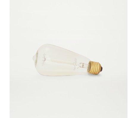 Frama Bulb LED ateltier lights drop transparent glass 12 × 6,5cm