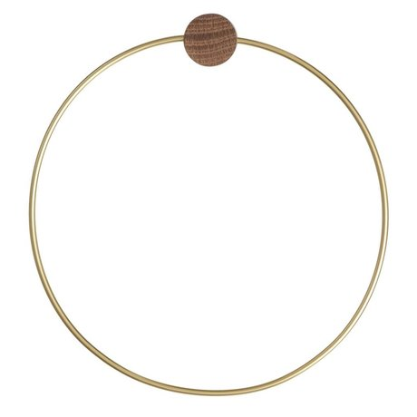 Ferm Living Towel Ring Brass gold ø 20,5cm