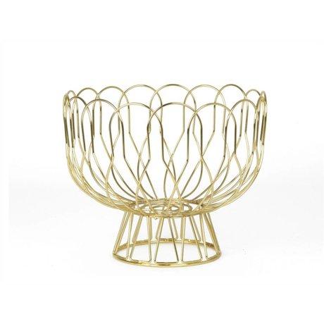 pt, Fruitschaal Gold Metall Ø26x28cm