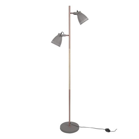 Leitmotiv floor lamp mingle wood gray metal wood Ø28x152cm