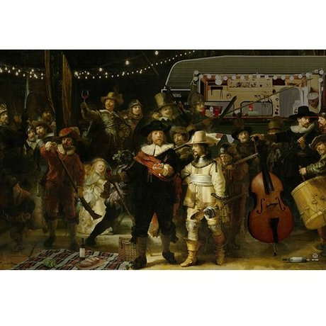 Arty Shock Rembrandt painting - The Night Guard M multicolor plexiglas 80x120cm