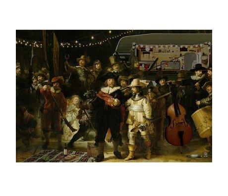 Arty Shock Peinture Rembrandt - La montre de nuit XL multicolore Plexiglas 150x225cm