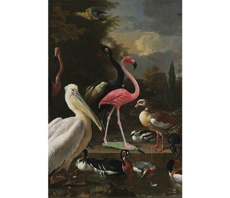 Arty Shock Peinture Melchior d'Hondecoeter - la plume flottante L multicolore Plexiglas 100x150cm