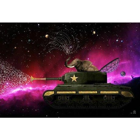 Arty Shock Peinture de fleur de paix S multicolore Plexiglas 90x60cm