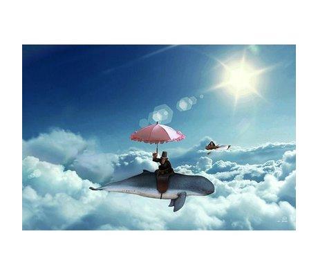 Arty Shock Bild über die mehrfarbige Plexiglas 90x60cm S Wolken