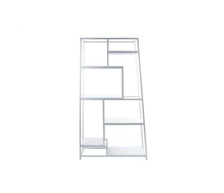Leitmotiv Bookcase white steel 178x102x33cm