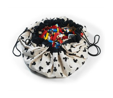 Play & Go Sac de rangement / coton Mickey playmat Noir Multicolor Ø140cm