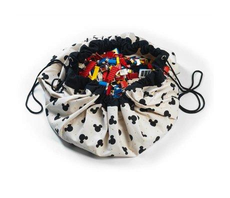 Play & Go Sac de rangement / coton Mickey playmat Noir Multicolor Ø140cm