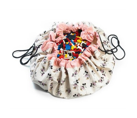 Play & Go Storage bag / toy Minni Gold multicolor cotton Ø140cm