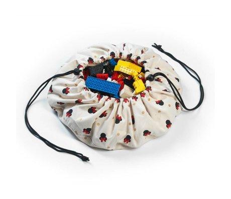 Play & Go Storage Bag / Toy Mini Minnie Multicolor Cotton Ø40cm