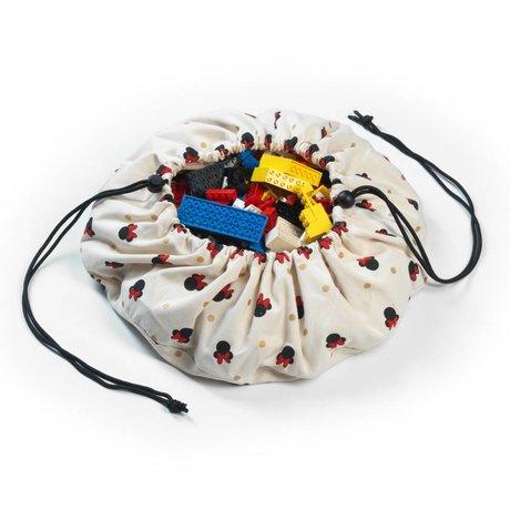 Play & Go Sac de rangement / Mini Minnie playmat coton multicolore Ø40cm