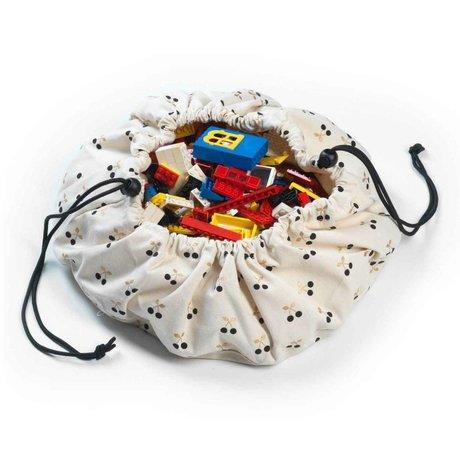Play & Go Sac de rangement / tapis de jeu MiniCherry or Ø40cm coton multicouleur