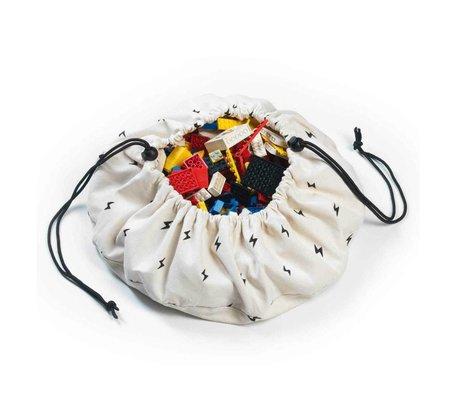 Play & Go Opbergzak/speelkleed Mini Thunderbolt multicolour katoen Ø40cm
