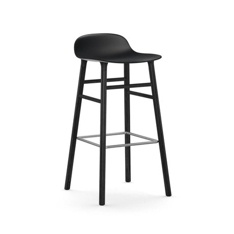 Normann Copenhagen Barkruk Form black plastic wood 75cm
