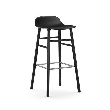 Normann Copenhagen Stuhlform aus schwarzem Kunststoff Holz 75cm