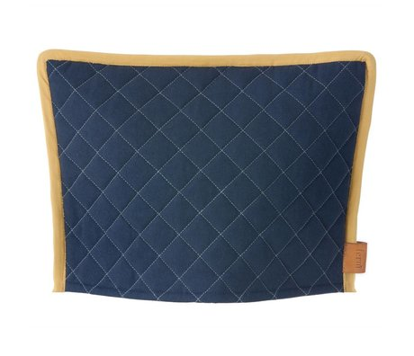 Ferm Living Cosy Cozy dark blue yellow 35x25cm