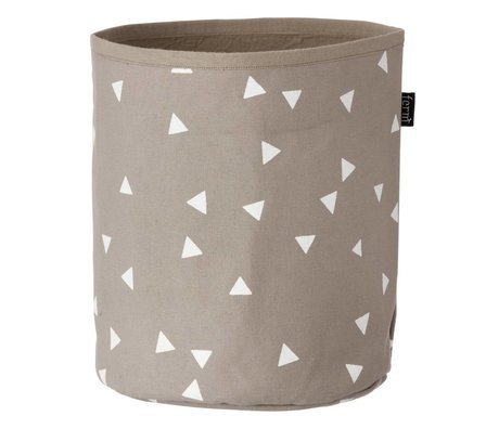Ferm Living Basket Basket Arrow gray / brown white small 22x25cm