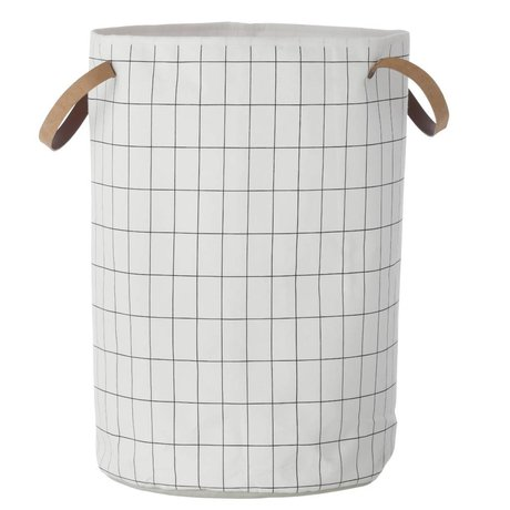 Ferm Living Hamper Basket Grid white 40x60cm